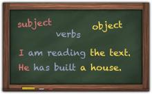subject verb object