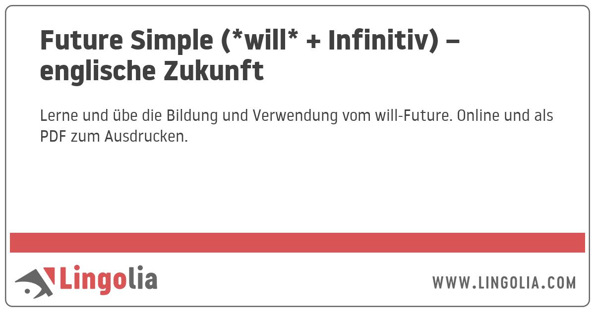 In Zukunft Englisch