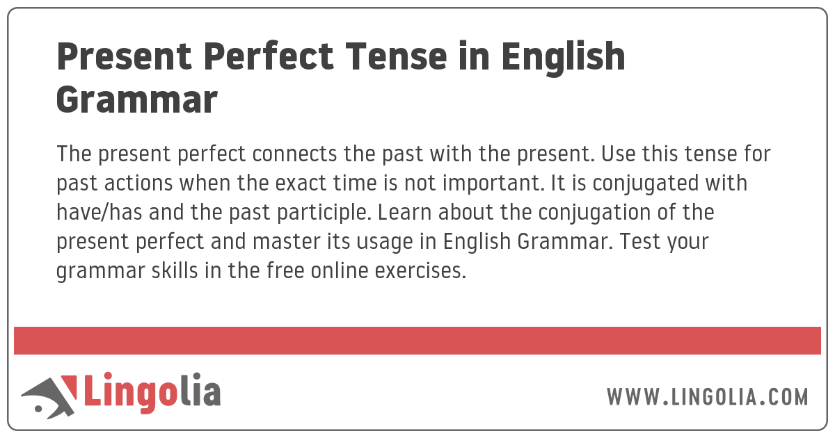 Present Perfect Tense In English Grammar