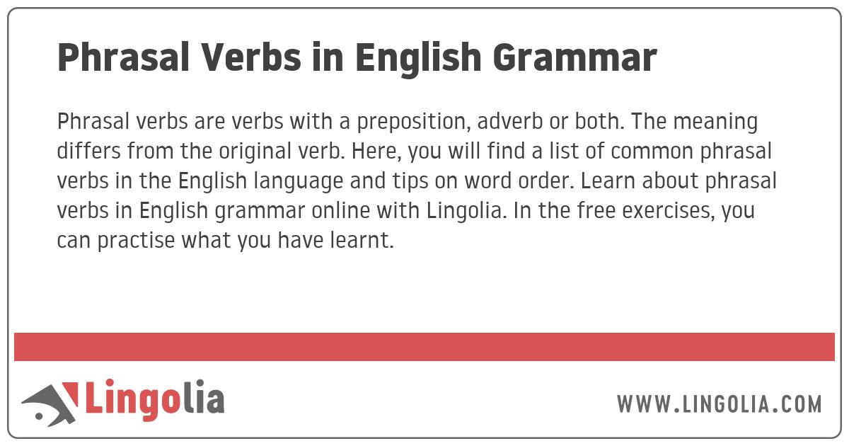Phrasal Verbs in English Grammar