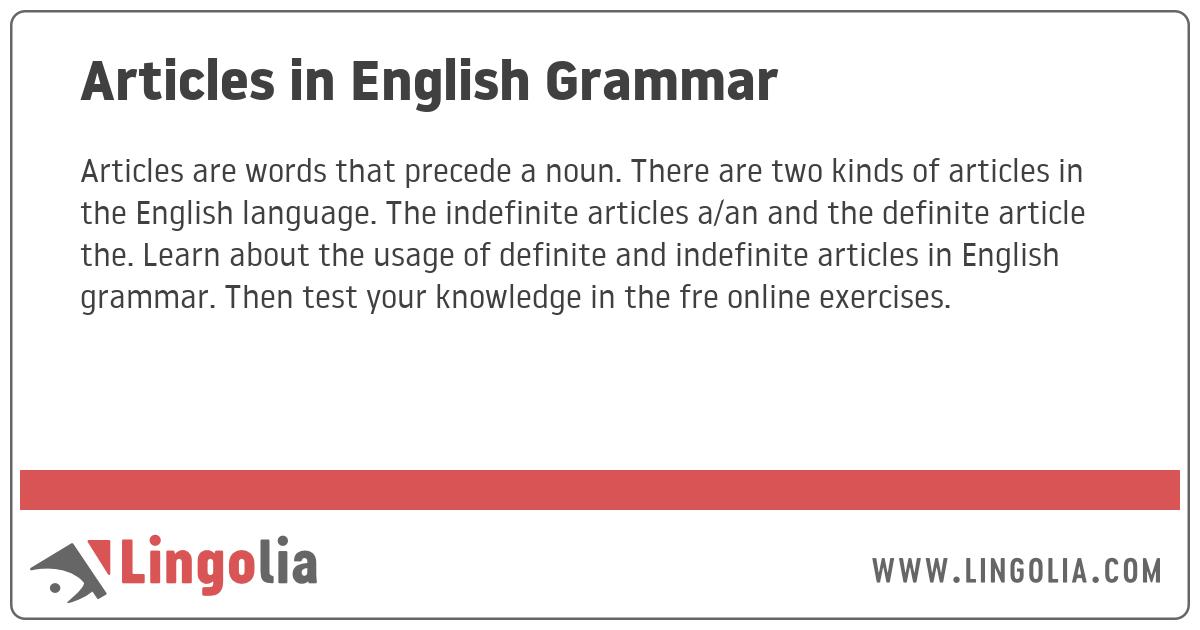 I Englisch