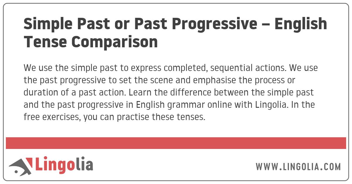 Simple Past or Past Progressive – English Tense Comparison