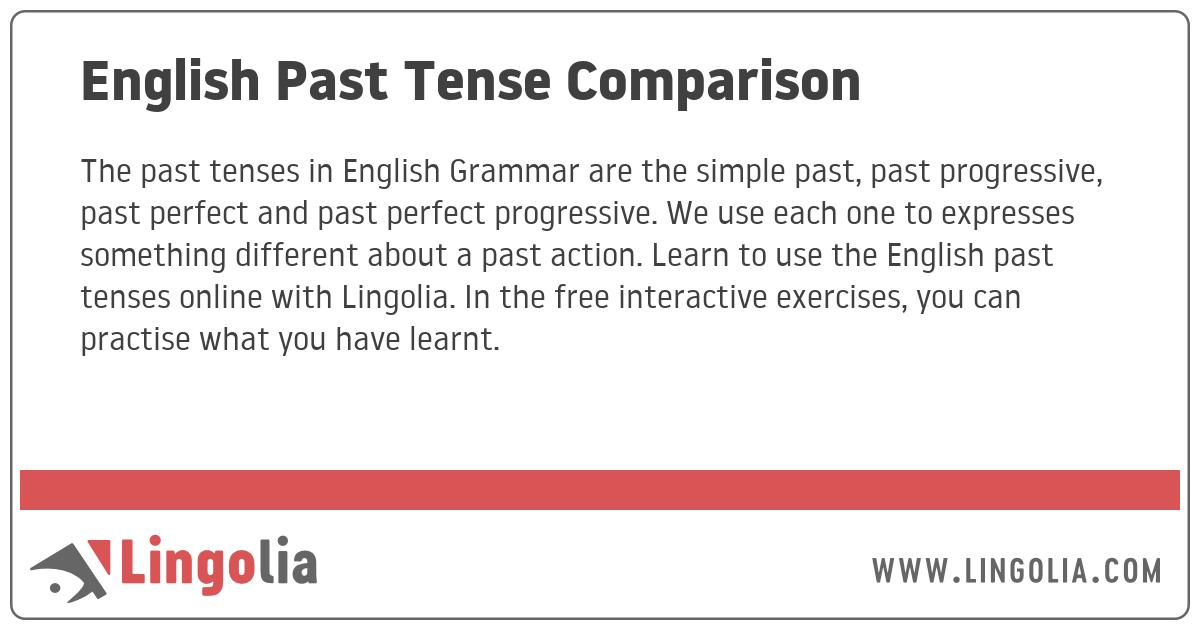English Past Tense Comparison