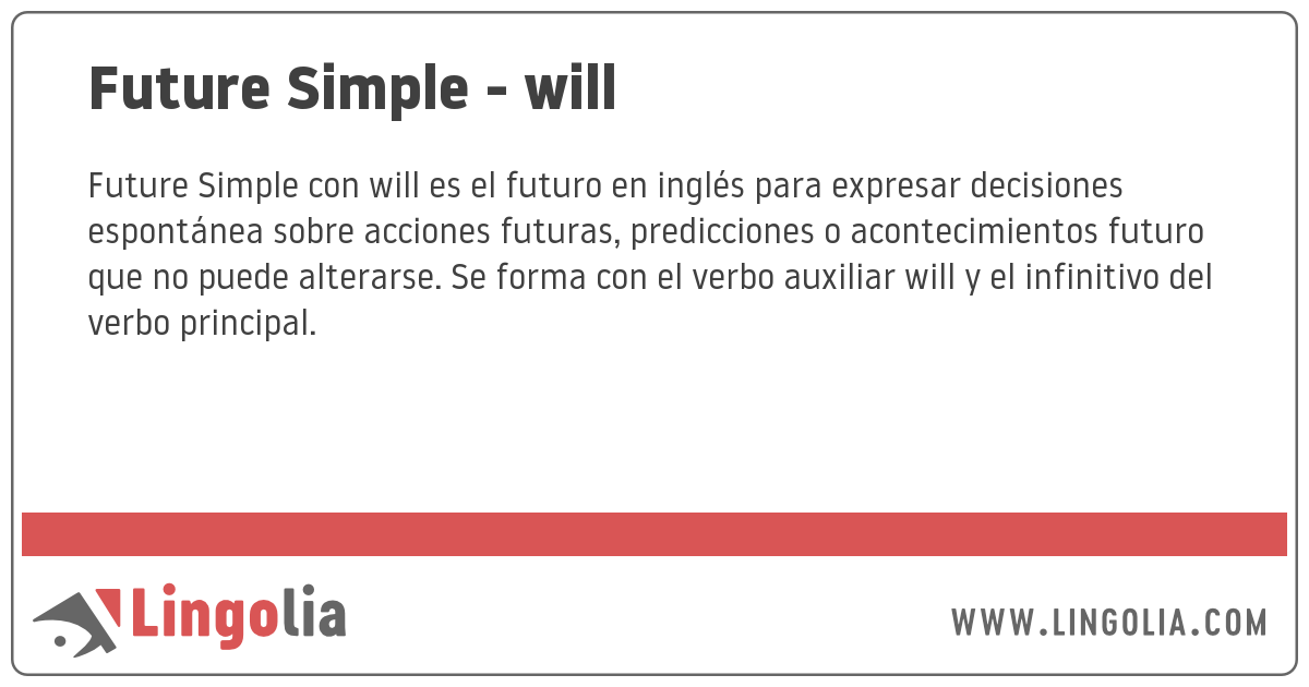 Future Simple Will