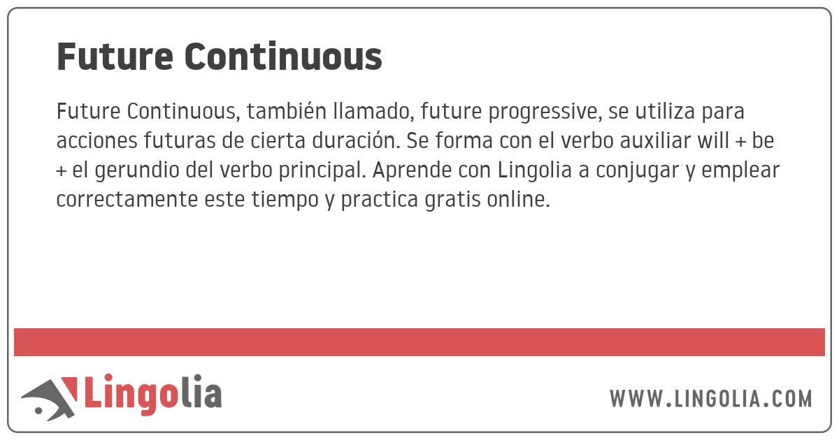927461b047 Future Continuous