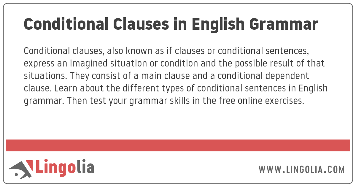 Conditional Clauses in English Grammar