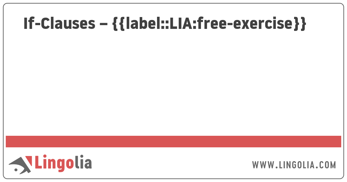 If-Clauses - Exercises